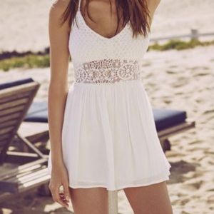 Abercrombie and Fitch Sheer Waist Romper